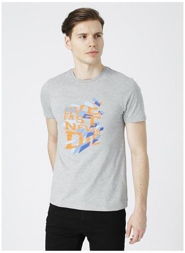 Limon Company Limon Erkek Gri Melanj Bisiklet Yaka T-Shirt Gri
